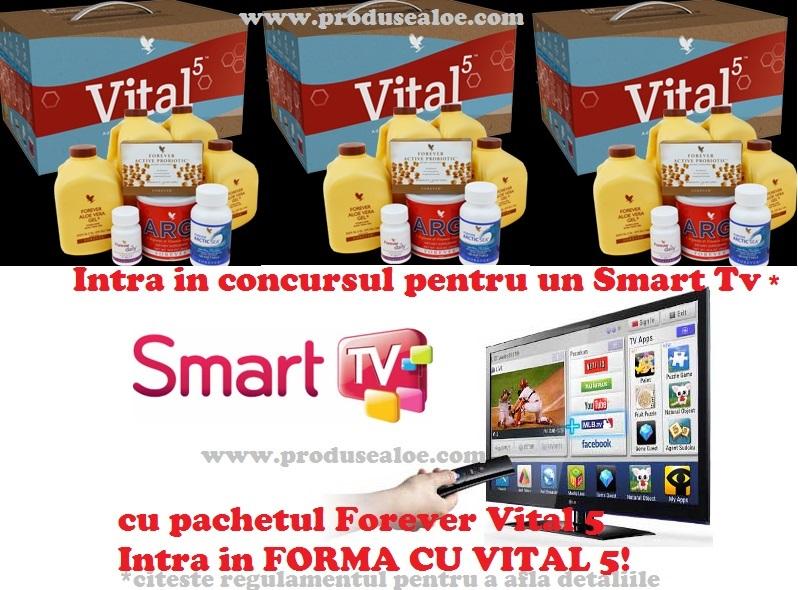 castiga un smart tv cu forever vital 5 www.comenziforever