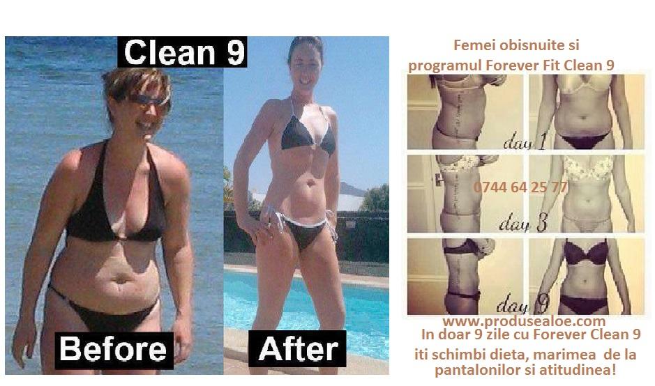 rezultate spectaculoase de slabire cu clean 9 forever living produse de slabire forever FIT