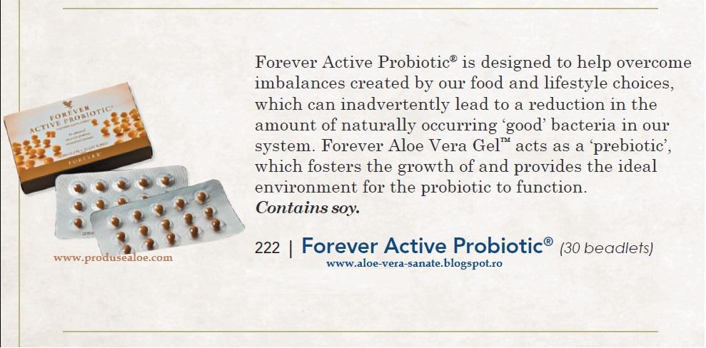 forever active probiotic si prebiotice pentru o digestie mai buna
