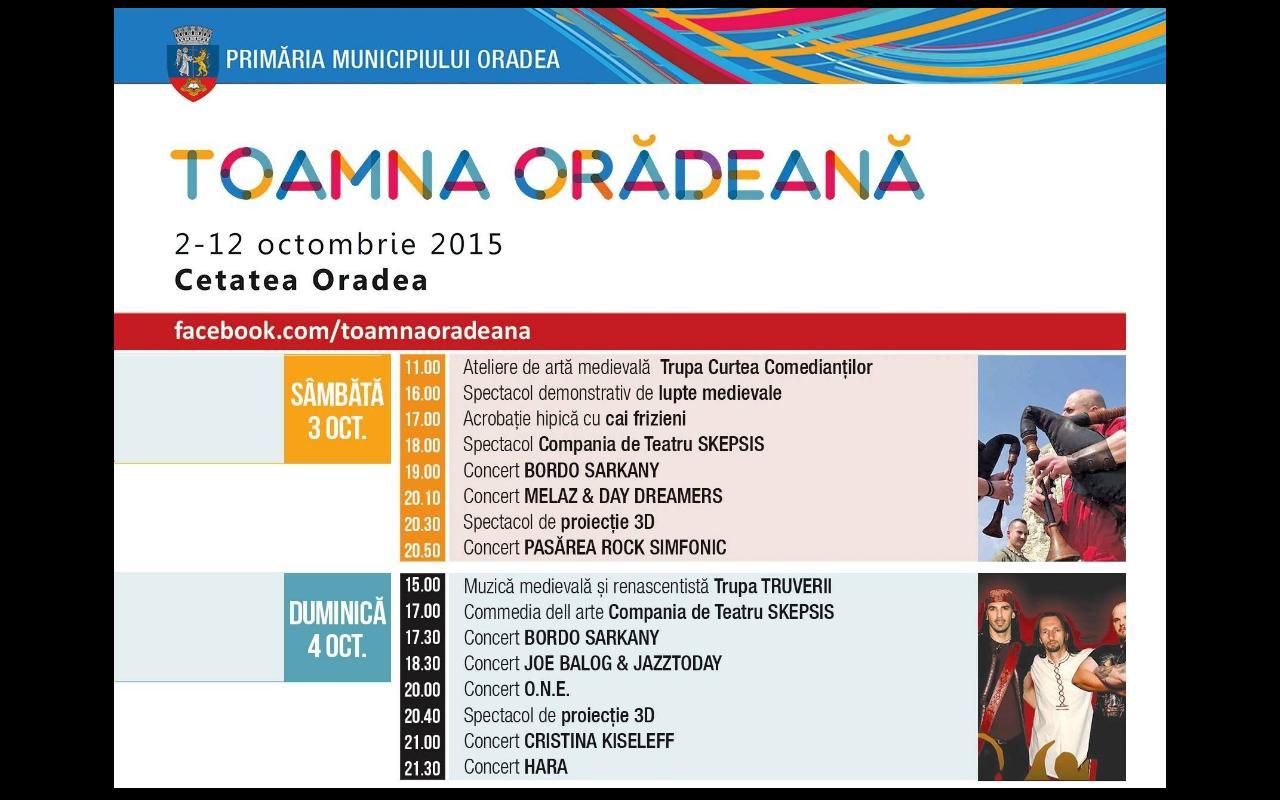 oradea toamna oradeana 2015 program toamna oradeana