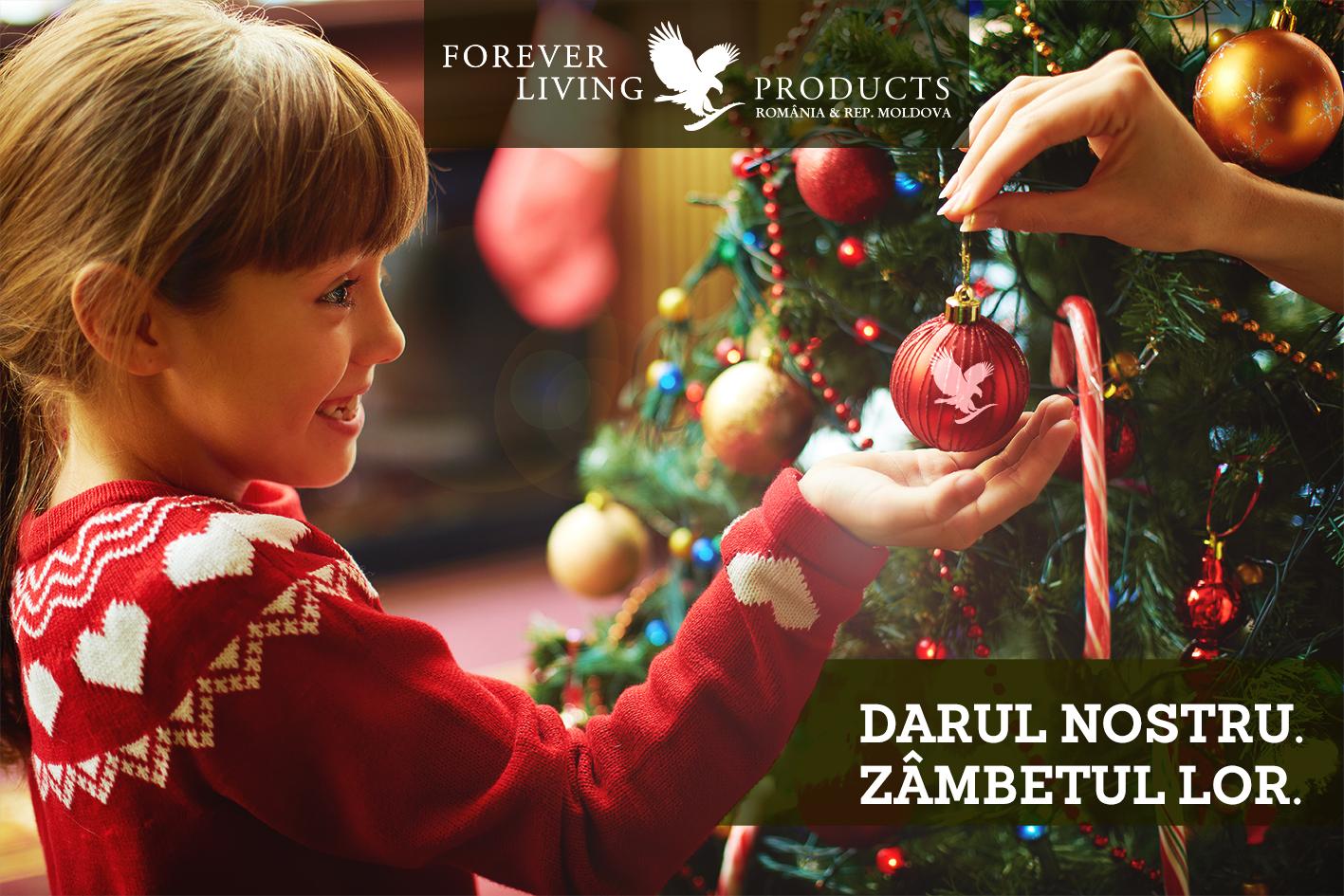 darul nostru zambetul lor programul de donare ajuta copii dec raciun forever living romania