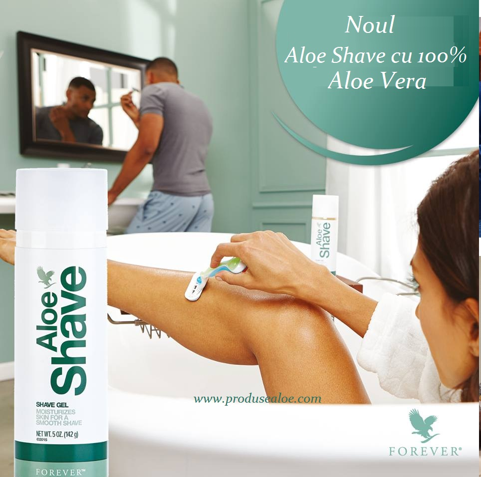 aloe  shave forever living romania