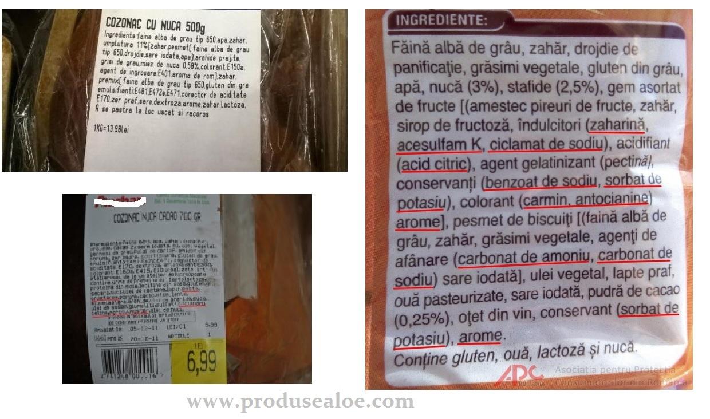 ingrediente cozonac din comert
