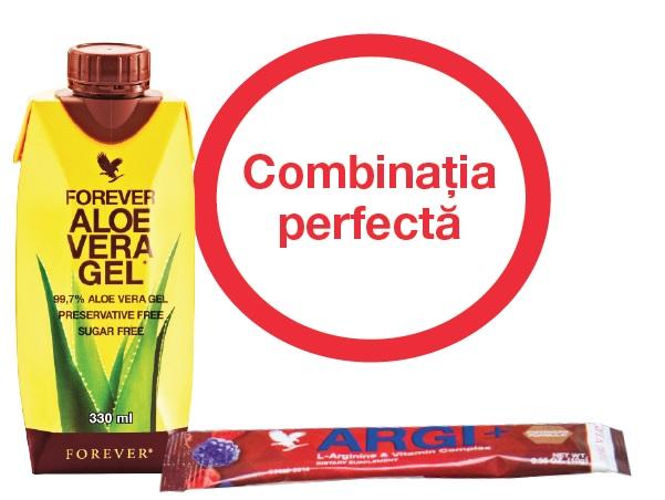 Combinatia cea mai energica Noul Mini Forever Aloe Vera Gel si Argi+
